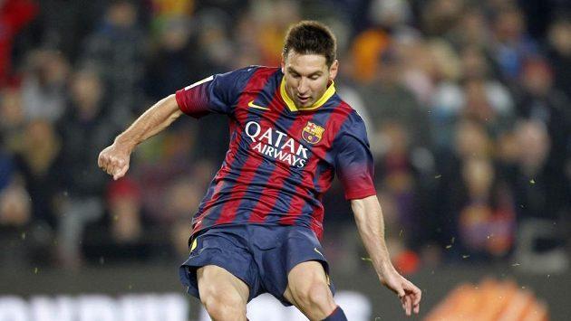 Barcelonský Lionel Messi ve středečním utkání s Getafe.