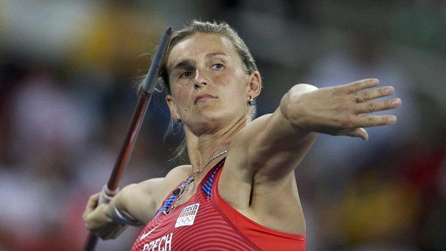Oštěpařka Barbora Špotáková během čtvrtečního finále.