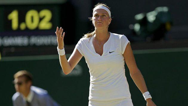 Zklamaná Petra Kvitová. Třetí titul ve Wimbledonu letos nevybojovala.