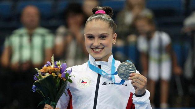 Aneta Holasová po úspěšném vystoupení na Evropských hrách v Minsku.