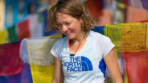 Běžkyně Lizzy Hawker v Káthmándú.