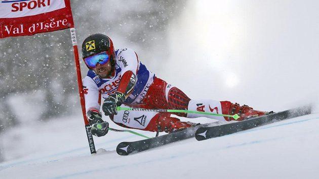 Rakušan Marcel Hirscher v sobotním závodě ve Val D'Isere.
