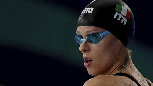 Italská plavecká hvězda Federica Pellegriniová.