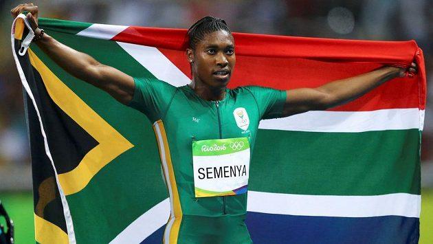 Jihoafričanka Caster Semenyaová na snímku z loňských OH v Riu.