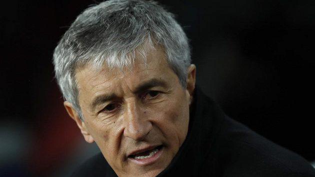 Trenér fotbalistů Barcelony Quique Setién rozhodně s výkonem svého týmu není spokojený