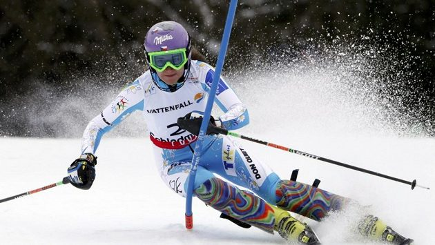 Česká lyžařka Šárka Záhrobská.
