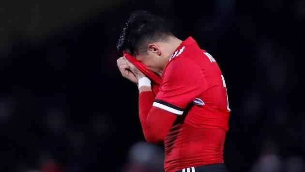 Alexis Sánchez v dresu Manchesteru United.