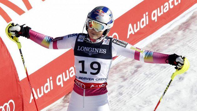 Zklamaná lyžařka Lindsey Vonnová v cíli v Beaver Creeku.