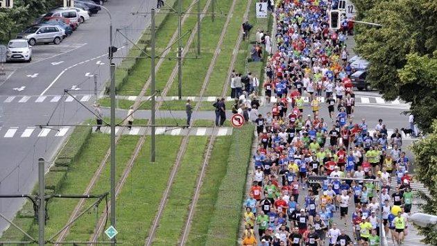 Na trati olomouckého půlmaratónu, jednoho ze závodů seriálu RunCzech.