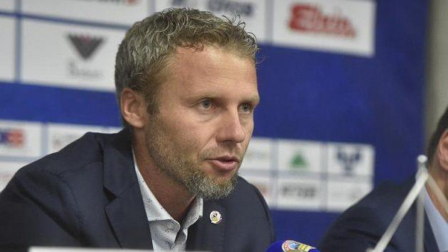 Vítkovický trenér Jakub Petr na tiskové konferenci