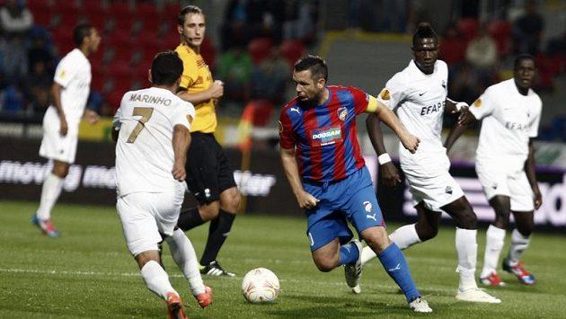 Pavel Horváth z Plzně v utkání proti portugalské Coimbře.