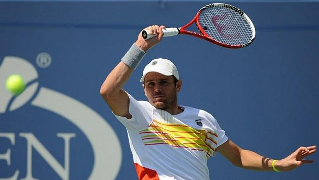 Americký tenista Mardy Fish při letošním US Open.