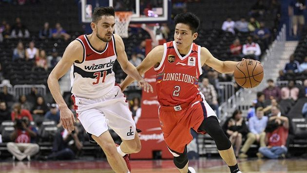 Český basketbalista Tomáš Satoranský (31) z Washingtonu v přípravě na NBA.
