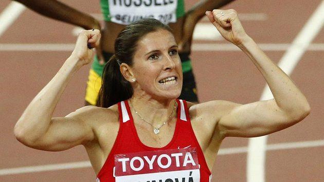 Radost Zuzany Hejnové v cíli semifinále v Pekingu