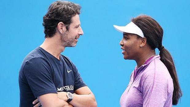 Patrick Mouratoglou a Serena Williamsová.