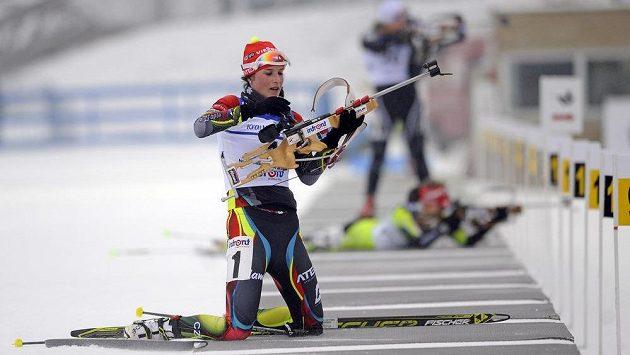 Česká biatlonistka Lea Johanidesová na domácím ME v Novém Městě na Moravě.