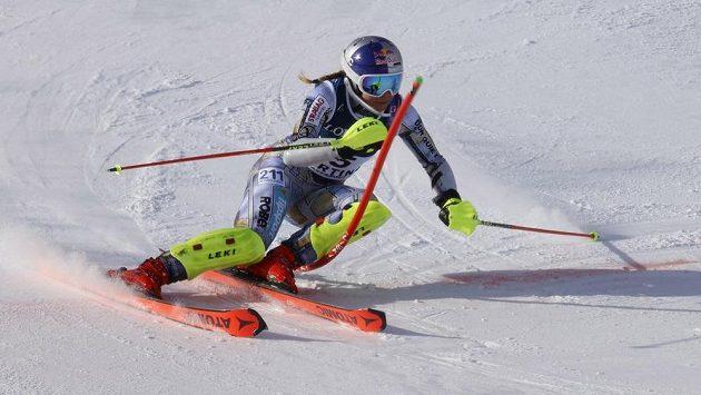 Ester Ledecká si v kombinaci na MS v Cortině d'Ampezzo dojela pro osmé místo.