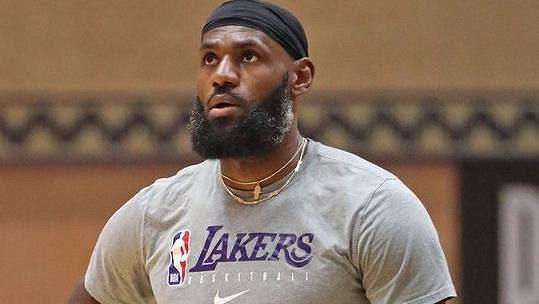 Hvězda NBA LeBron James.