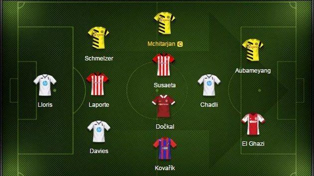 Maximální zastoupení má v našem výběru Borussia a Tottenham.
