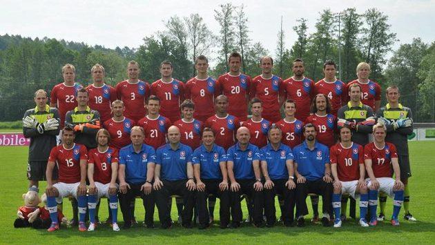 Fotografování českého národního týmu na soustředění v Rakousku