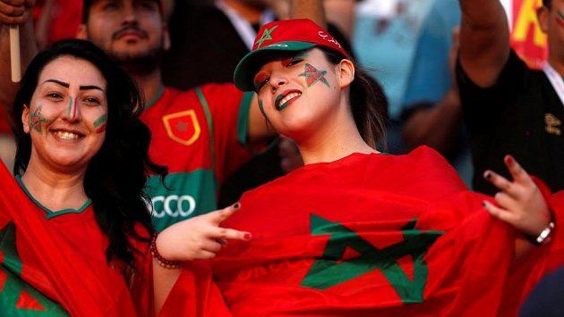 Fanynky Maroka na mistrovství Afriky.