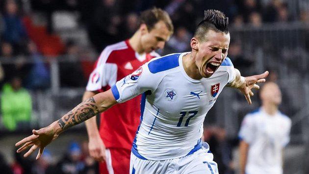 Marek Hamšík přispěl dvěma góly k výhře Slovenska nad Lucemburskem.
