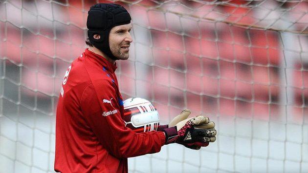 Petr Čech během tréninku.
