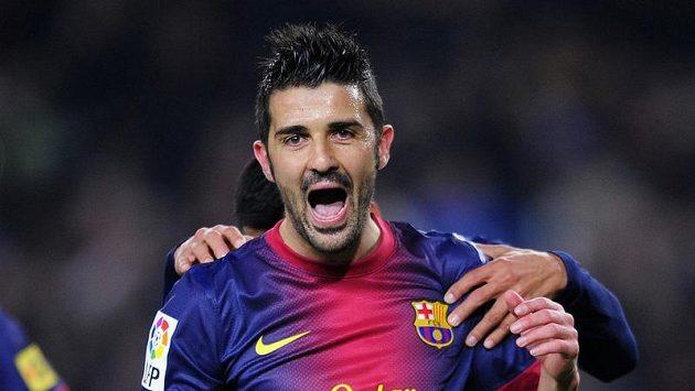 Útočník Barcelony David Villa se v poháru proti Cordobě blýskl dvěma góly.