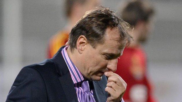 Smutný trenér Baníku Ostrava Martin Pulpit