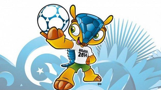 Maskotem fotbalového MS 2014 v Brazílii bude pásovec.