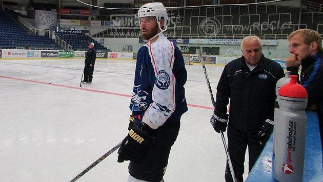 Martin Havlát na tréninku Komety Brno.