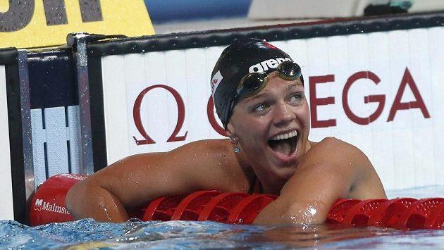 Ruská plavkyně Julija Jefimovová překonala rekord na 50 metrech technikou prsa.