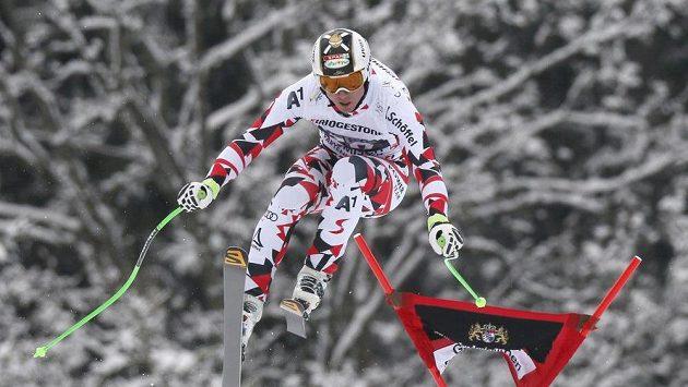 Rakouský sjezdař Hannes Reichelt v Garmisch-Partenkirchenu.