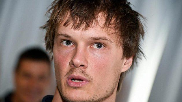 Kapitán české volejbalové reprezentace Jakub Janouch hovoří s novináři před mistrovstvím Evropy mužů.
