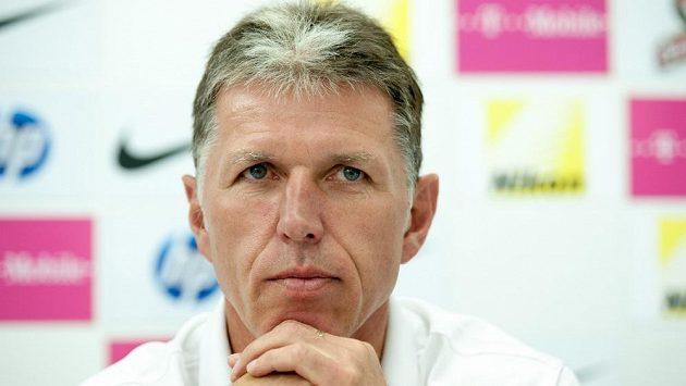 Trenér Jaroslav Šilhavý na tiskové konferenci Slovanu Liberec před startem nové sezóny.