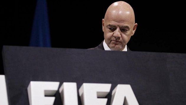 Předseda Mezinárodní fotbalové federace Gianni Infantino.