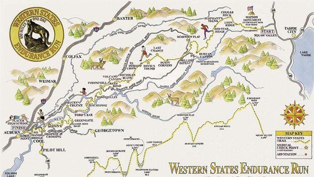 Profil závodu Western States Endurance Run