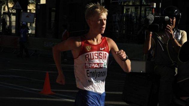 Ruský chodec Stanislav Jemeljanov na evropském šampionátu v roce 2010 v Barceloně.