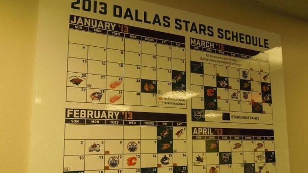 Nadupaný kalendář hokejistů Dallasu.
