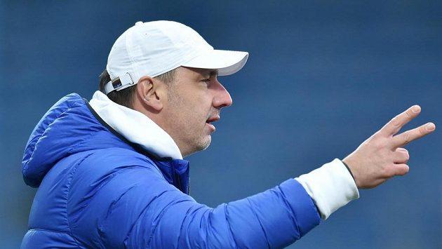 Liberecký trenér Jindřich Trpišovský během utkání se Slováckem..