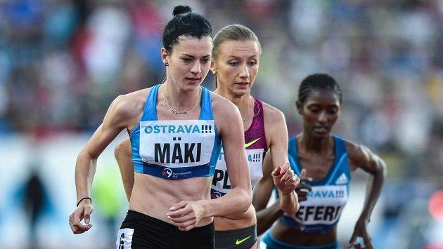 Běžkyně Kristiina Mäki na mítinku Zlatá tretra v Ostravě.