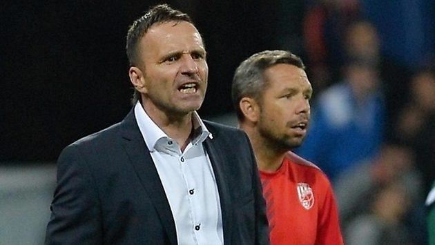 Trenér Plzně Karel Krejčí (vlevo) a jeho asistent Pavel Horváth na ilustračním snímku.