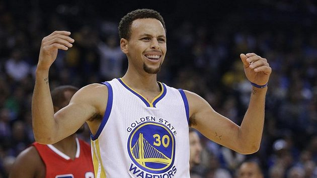Hvězda Golden State Warriors Stephen Curry.