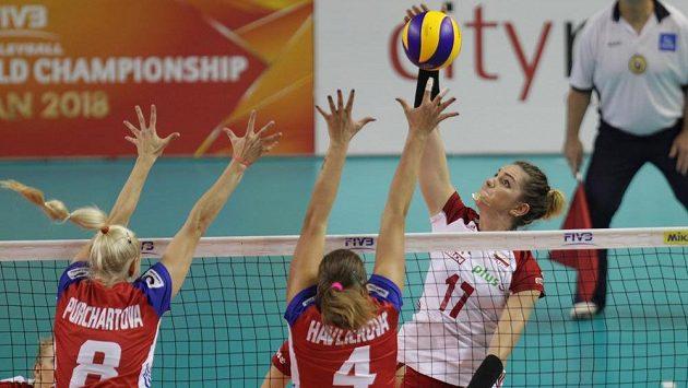 Semifinálový zápas druhé divize Grand Prix volejbalistek mezi Českou republikou a Polskem.
