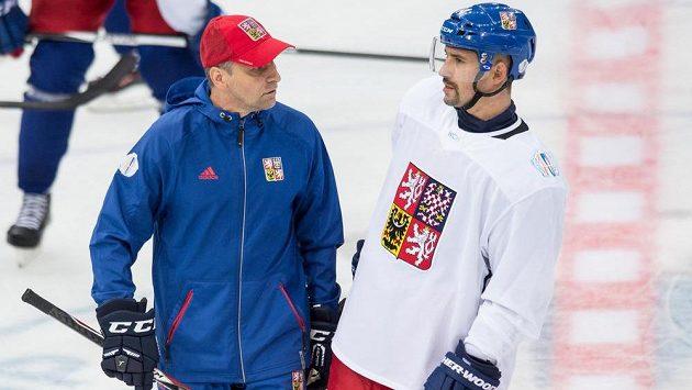 Trenér Josef Jandač a kapitán výběru pro Světový pohár Tomáš Plekanec.