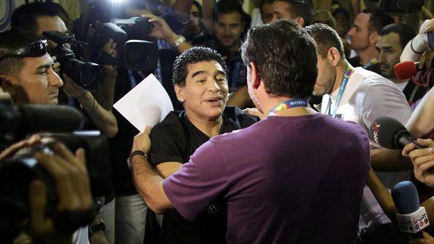 Diego Maradona v Rio de Janeiru.