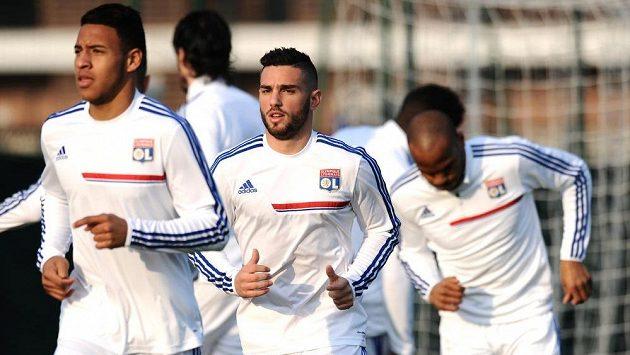 Fotbalisté Lyonu se chystají na duel s Plzní.