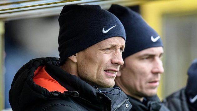 Jiří Jarošík coby liberecký asistent během utkání s Jabloncem.
