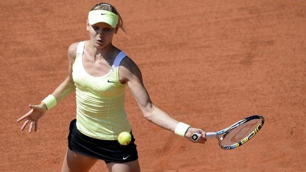 Lucie Šafářová během semifinále tenisového turnaje žen Sparta Prague Open.
