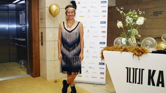 Barbora Strýcová na party během turnaje v Linci.